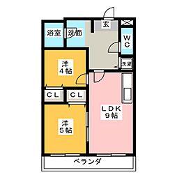 青木ビル[2階]の間取り
