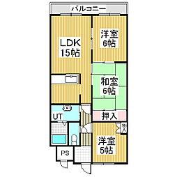 Jステージ若草[5階]の間取り