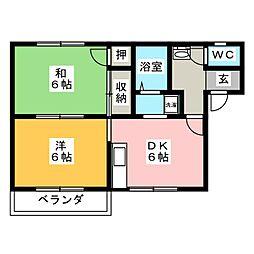 コーポ松永[2階]の間取り
