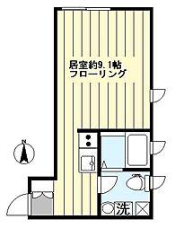 都営新宿線 森下駅 徒歩5分の賃貸マンション 4階ワンルームの間取り