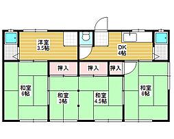 大阪府堺市北区蔵前町1丁の賃貸アパートの間取り