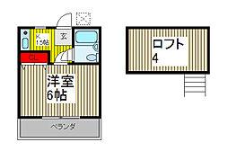 ハイツ謝藤[1階]の間取り