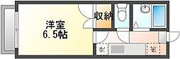 JR赤穂線 西川原駅 徒歩10分の賃貸アパート 2階1Kの間取り