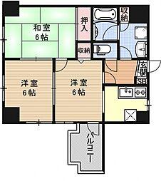 ライオンズマンション京都河原町[910号室号室]の間取り