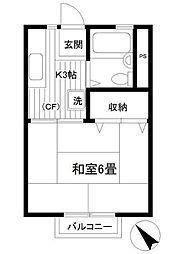 神奈川県横浜市保土ケ谷区岩崎町の賃貸アパートの間取り
