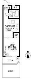 国際パレス柿の木坂[1階]の間取り