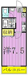 メゾン・ドゥ[2階]の間取り