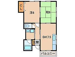 ハイツミエ[1階]の間取り