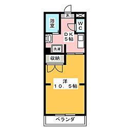 フラットハイツ[1階]の間取り