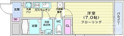 リブリ・新寺 2階1Kの間取り
