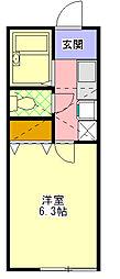 サンアベニュー町田[102号室]の間取り