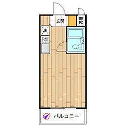 モナークマンション桜上水[0204号室]の間取り