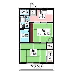 アーバニア松田[2階]の間取り