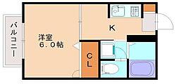 レイクタウン井尻[2階]の間取り