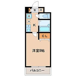 HIKOハイツ[10階]の間取り