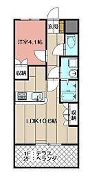 maison de Yuu[107号室]の間取り