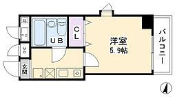 プリオール三宮[306号室]の間取り