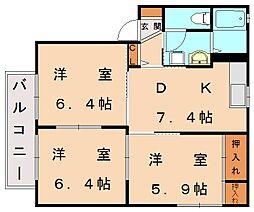 シャーメゾン新宮 B[2階]の間取り