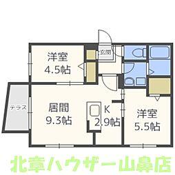 Eclat une maison(エクラアンメゾン)[1階]の間取り