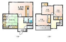 [一戸建] 滋賀県東近江市五個荘山本町 の賃貸【/】の間取り