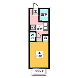 コスモキヌガサB[2階]の間取り