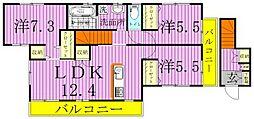 オレンジ貸家[2号室]の間取り