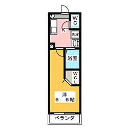 アドレスパーク武蔵小杉 2階1Kの間取り