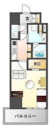 コンフォリア江坂(家具付き)[4階]の間取り