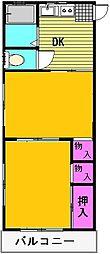 メゾン石丸[201号室]の間取り