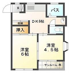 木戸レジデンス[2階]の間取り