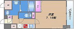 JPレジデンス大阪城東III 2階1Kの間取り