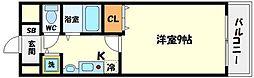 パークサイド千里[6階]の間取り