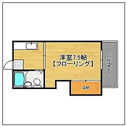 ルベール友丘(初期費用2万円)[201号室]の間取り