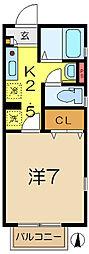 デザインコート日野[1階]の間取り