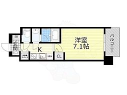 スプランディッド新大阪5 6階1Kの間取り