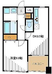 セルリアン南太田[3階]の間取り