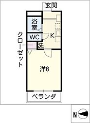 ラフィネ四ッ谷[5階]の間取り