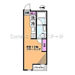 東京都品川区西中延2丁目の賃貸アパートの間取り