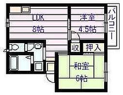 マウントハイツ[2階]の間取り