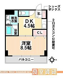 愛知県名古屋市南区駈上1丁目の賃貸マンションの間取り