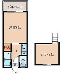 宮崎県宮崎市清武町加納の賃貸アパートの間取り
