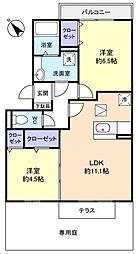 ロイヤルコートC[1階]の間取り