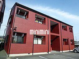 群馬県高崎市中尾町の賃貸アパートの外観