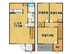 [テラスハウス] 兵庫県明石市大道町1丁目 の賃貸【/】の間取り