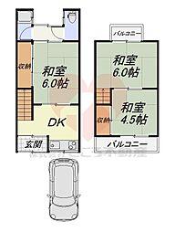 堺市北区新金岡町5丁戸建 1階3DKの間取り