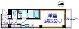 京成本線 お花茶屋駅 徒歩2分の賃貸マンション 1階1Kの間取り