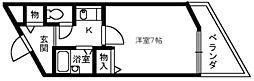大阪府堺市北区百舌鳥陵南町2丁の賃貸マンションの間取り