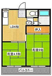 ハイツ梨花[2階]の間取り