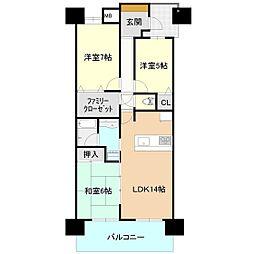 セレナハイムリバーサイドステージ土浦[5階]の間取り