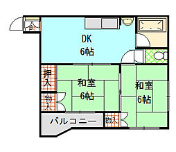 小阪ビル[8階]の間取り